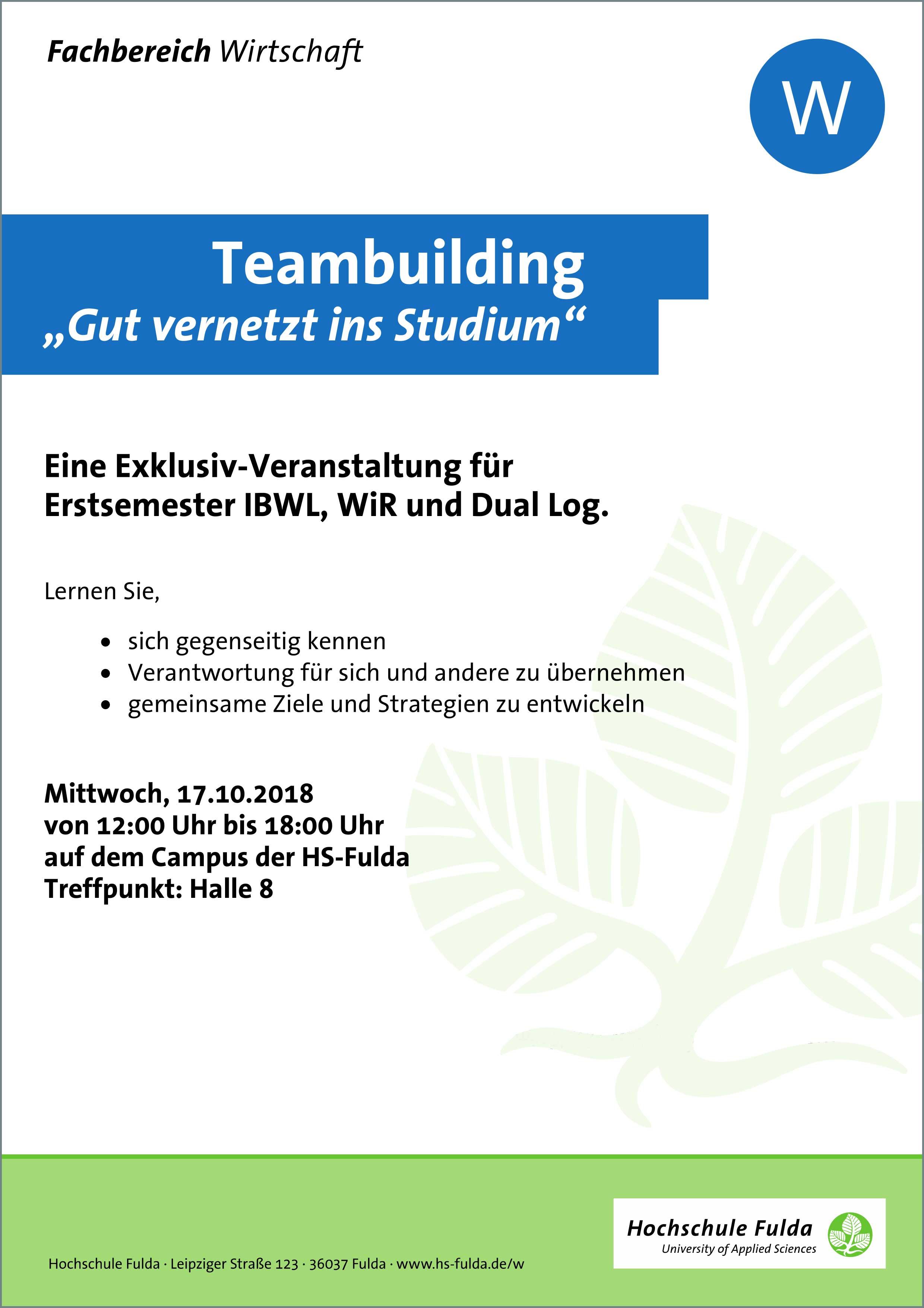Erstsemestereinführung – Hochschule Fulda